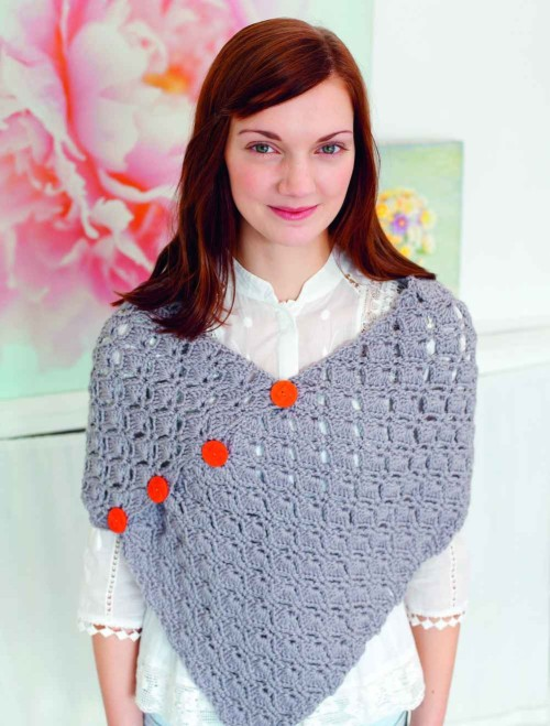 Poncho do livro Crochet Living